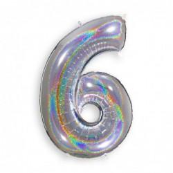 6 Glitter Silver
