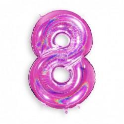 8 Glitter Fuxia