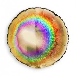 Round Glitter Gold